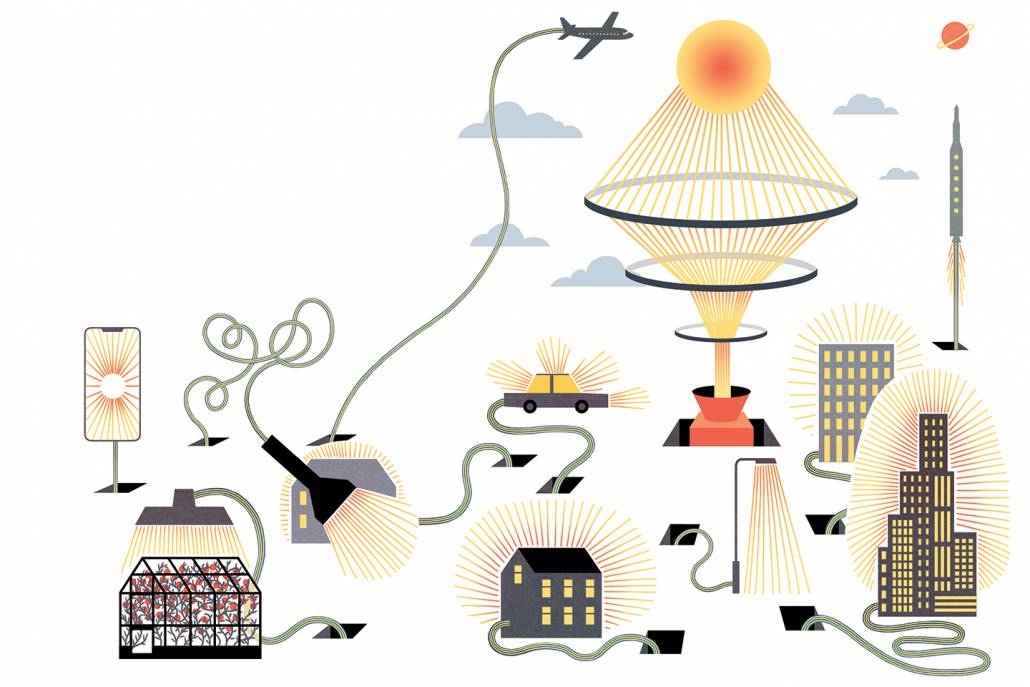 illustration of solar cells